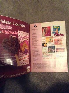 Album Barbie De Helados Holanda Año 1985