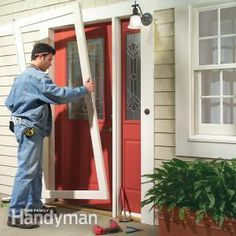 How to Install a Storm Door and Storm Door Replacement & Double Larson storm doors give the look of French doors. They keep ... pezcame.com