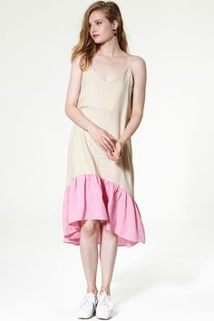 Ella Color-ruffle Hem Dress Discover the latest fashion trends online at storets.com