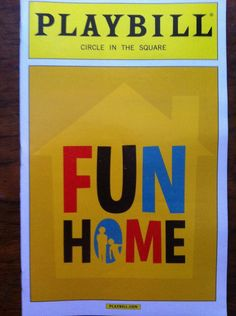 Best Musical Tony Award Winners by Playbill Fun Home Broadway, Fun Home Musical, New Broadway Musicals, Broadway Plays, Broadway Theatre, Musical Theatre, Broadway Shows, Broadway Playbill, Broadway Party