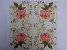 Guardanapo com Estampa de Flores Estilo Vintage 0391 - Diversos ...