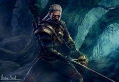 Geralt of Rivia by alliwonna