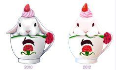 Art Kawaii, Kawaii Cute, Kawaii Anime, Bunny Art, Cute Bunny, Cute Drawings, Animal Drawings, Rabbit Illustration, Rabbit Art