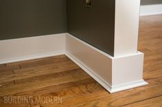 Trying to decide on baseboards. definitely want to replace all baseboards on main level. with wider baseboards. Installing baseboards, cove moulding, and caulking Baseboard Styles, Baseboard Molding, Floor Molding, Base Moulding, Moldings And Trim, Baseboard Ideas, Baseboard Heaters, Cove Crown Molding, Caulk Baseboards