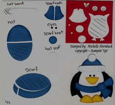Penguin instruction From Owl Punch, Stampin' Up