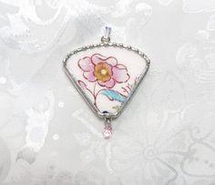 Broken China Jewelry Pendant Mason's Brocade by TreasuresAnew, $29.00