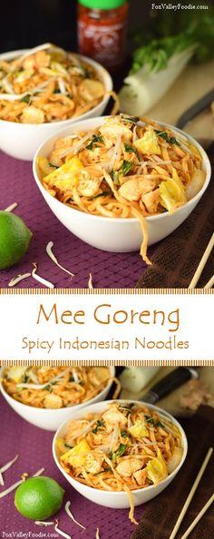 Mee Goreng, Spicy Indonesian Noodles