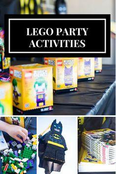 do it yourself divas: DIY LEGO Batman Birthday Party. DIY piñata. DIY Batman piñata. Dollar store lego birthday party table display. How to make the batman sign / symbol. Perfect party goodie bags for a lego birthday party. Batman cupcakes. Lego party activities.