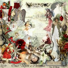 ONCE UPON A CHRISTMAS by G&T Designs.  A huge scrapbooking collection now available at E-scape and Scrap
