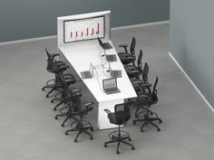 Video Sharing tables to support collaboration and facilitate highly interactive meetings.#design #office #Corporate #Training # tables #Atlanta #modern #Technology #highereducation #sustainability # systems