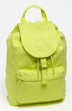 Baggu Canvas Backpack Neon Yellow on shopstyle.com