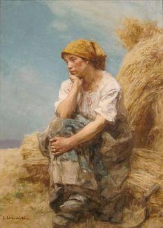'Peasant Woman Resting' by Léon Lhermitte, Cincinnati Art Museum.JPG