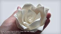 Origami Rose of Kade Chan tutorial