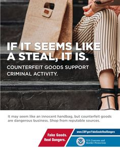 """Gipc president & ceo david hirschmann today praised a new u. customs and border protection (cbp) campaign, """"the truth behind counterfeits"""", Rustic Outfits, New Uses, Shop Front Design, Shop Plans, Marshalls, Health And Safety, Campaign, Public, Intellectual Property"""