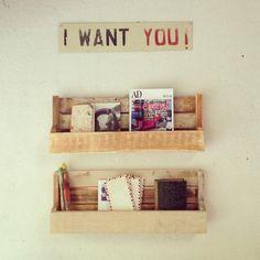 la casita de MARGAUX | Revistero hecho con madera reciclada