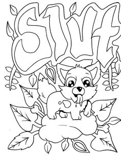 Dog - Adult Coloring page - swear. 14 FREE printable coloring pages, Visit swearstressaway.com to download and print 14 swear word coloring pages. These adult coloring pages with colorful language are perfect for getting rid of stress. The free printable coloring pages that are given change, so the pin may differ from the coloring pages give at swearstressaway.com #coloring #art #dogs