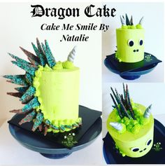 Dragon Cake in the style of a Unicorn cake from Cake Me Smile By Natalie  https://m.facebook.com/Cake-Me-Smile-by-Natalie-965591876858656/