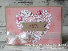 Julie Kettlewell - Stampin Up UK Independent Demonstrator - Order products 24/7: Mum Birthday Card