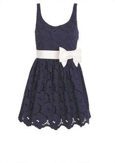 Bow Belted Eyelet Dress! Love love loveeee
