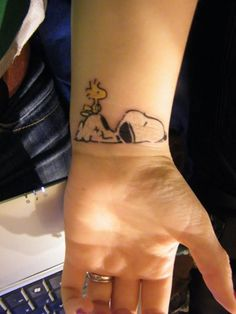 Snoopy & Woodstock Tattoo