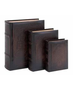 Antique Leather Book Box Set In Brown The Cover Features Frog Prince