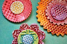Textured Ceramic Flowers