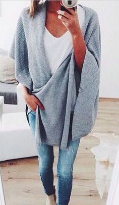 Blanket sweaters + basics.