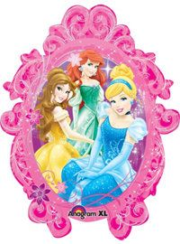 Princess Frame Supershape Mylar Balloon sided with different princesses on each side) Princess Birthday Party Decorations, Disney Princess Birthday Party, Princess Theme Party, Birthday Ideas, 22nd Birthday, Birthday Parties, Party City Balloons, Foil Balloons, Birthday Balloons