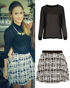 Lucy Watson from Made In Chelsea rocks a monochrome skirt High Fashion Outfits, Fashion Idol, Weekend Style, Weekend Outfit, Unique Fashion, Timeless Fashion, Become A Fashion Designer, London Look, Business Casual Attire