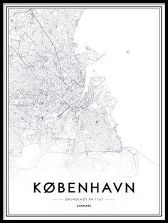Kart over København …