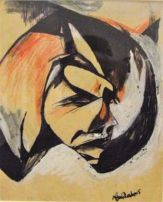 Portrait de Lou Märten, 1915 - Hans Richter - WikiArt.org Dadaism Art, Dada Artists, Hans Richter, Hans Arp, Degenerate Art, Francis Picabia, Alfred Stieglitz, 20th Century Fashion, Action Painting