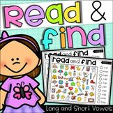 Read and Find Picture Puzzles - Short Vowels and Long Vowels by My Teaching Pal Educational Math Games, Fun Math Games, Phonics Activities, Kindergarten Activities, Word Games, Preschool, Hidden Pictures, Short Vowels, Picture Puzzles