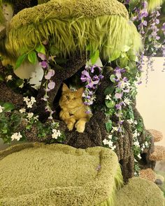 """unicornempire: """" catsbeaversandducks: """" Wolfie the Werecat and his wonderful Enchanted Forest Kitty Sanctuary. Photos by Wolfie Cat Tree made by Hollywood Kitty Company """" I feel like I'm going to go. Animal Room, Cute Baby Animals, Animals And Pets, Cat Castle, Cat Toilet Training, Cat Towers, Cat Aesthetic, Cat Room, Pet Furniture"""