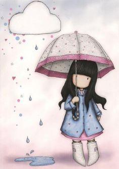 Gorjuss - The official Gorjuss girls online shop from Santoro London. Buy Gorjuss notebooks, greeting card sets and Journals. - page 8 Cartoon Kunst, Cartoon Art, Cute Cartoon, Art Mignon, Santoro London, Cute Images, Pattern Art, Cute Drawings, Cute Wallpapers