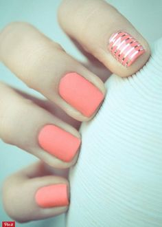 """Easy on the eyes, pastel blue nail polish is complemented by a gorgeous sparkling polka dotted gold for accent. Recreate this manicure with the help of these products used. In many cases, you want your nails to complement the outfit that you are wearing. You should see these 8 Adorable Pastel Nail Ideas In many … Continue reading """"8 Adorable Pastel Nail Ideas"""""""