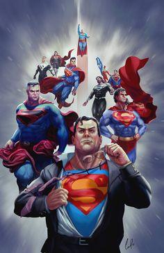 Superman Suit, Superman Artwork, Superman Family, Superman Comic, Superman Man Of Steel, Dc Comics Heroes, Dc Comics Art, Comic Books Art, Comic Art