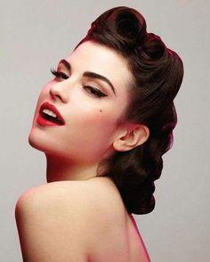 Pettinatura e make up Rockabilly 2014 - Trucco e raccolto in stile rockabilly