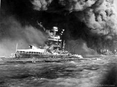 Learn about the history of Pearl Harbor with these historic photos of the USS California Battleship Pearl Harbor Hawaii, Pearl Harbor Attack, Naval History, Us History, Military History, Military Art, Ancient History, Pearl Harbor Pictures, Day Of Infamy