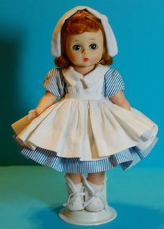 "8"" Madame Alexander Wendy Kin Doll ~ 1964 Nurse #660 w/ Bent Knees ~ 3 DAY SALE! #MadameAlexander #Dolls"