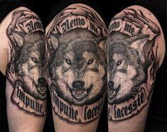 Wolf Tattoo by Mehdi Rasouli broken tooth tattoos Tooth Tattoo, Teeth, Black And Grey, Wolf, Portrait, Tattoos, Tatuajes, Headshot Photography, Tattoo
