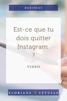 Je me pose la question de ma présence sur Instagram : faut-il quitte ce réseau social ou bien y rester ? #business #reseauxsociaux #insta Quitter, Pose, Instagram, Business, Self Confidence, Social Media, Program Management, Tools, Store