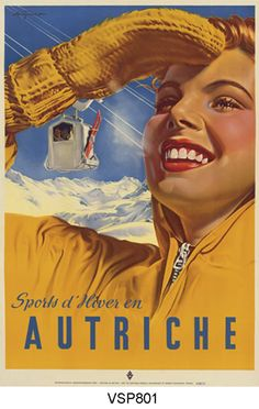 Autriche (Austria) ski poster