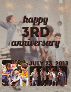 HAPPY BIRTHDAY ONE DIRECTION! CAN'T BELIEVE IT HAS ALREADY BEEN 3 YEARS!! <33333333 HAVE A WONDERFUL DAY!!! :)))))))) :DDDDDD
