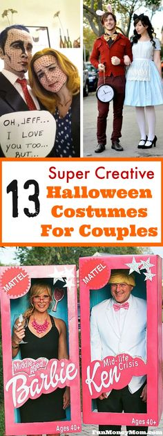 Want some great Halloween costume ideas? These costumes for couples are sure to win some Halloween contests! #costumes