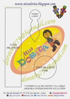 Miss Dorita: Moldes Dulcero Lapiz