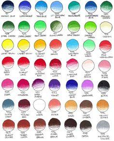 Prismacolor Color pencils Chart 1 by peonyfantasy.deviantart.com on @deviantART