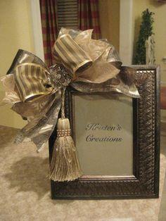 Elegant Gold Tassel Frame by kristenscreations on Etsy, $32.00