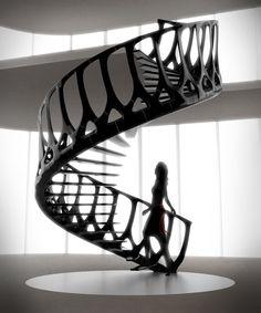 Escada Vertebrae por Andrew Lee McConnell / Vertebrae Staircase by Andrew Lee McConnell