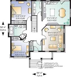 Marvelous House plan W detail from DrummondHousePlans