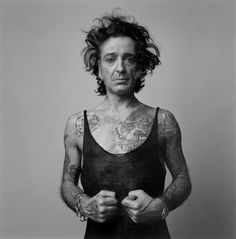 Alberto García-Alix (born 1956) is a Spanish photographer from León. A National Photography Award winner in 1999. He has always been inspired by bikes, tattoos, music and the night. Often violently shameless, his works are recurrently raw and naked portraits.García-Alix has devoted his entire career to black and white photography as personal and social documentation.